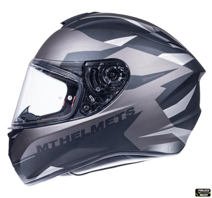 Casca integrala motociclete MT Targo Enjoy E2 gri/negru mat [0]