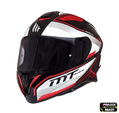 Casca integrala motociclete MT Targo Interact A1 rosu/alb/negru lucios [1]