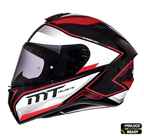 Casca integrala motociclete MT Targo Interact A1 rosu/alb/negru lucios [0]