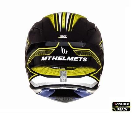 Casca integrala motociclete MT Targo Interact A4 galben fluor/alb/negru lucios [3]