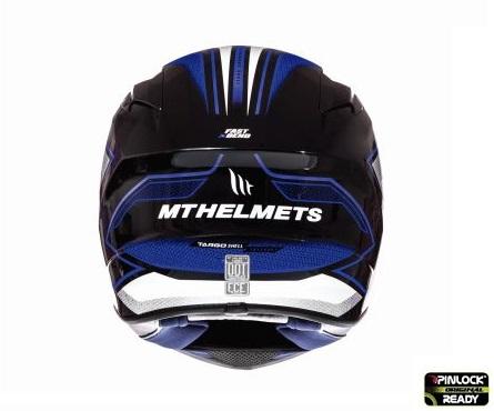 Casca integrala motociclete MT Targo Interact A6 albastru/alb/negru lucios [3]