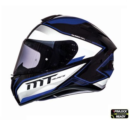 Casca integrala motociclete MT Targo Interact A6 albastru/alb/negru lucios [0]
