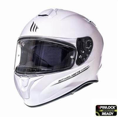 Casca integrala motociclete MT Targo solid A0 alb lucios [1]