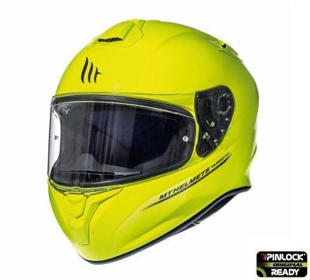 Casca integrala motociclete MT Targo solid A3 galben fluor lucios [1]