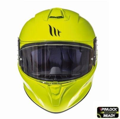 Casca integrala motociclete MT Targo solid A3 galben fluor lucios [2]