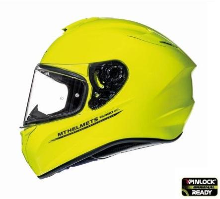 Casca integrala motociclete MT Targo solid A3 galben fluor lucios [0]