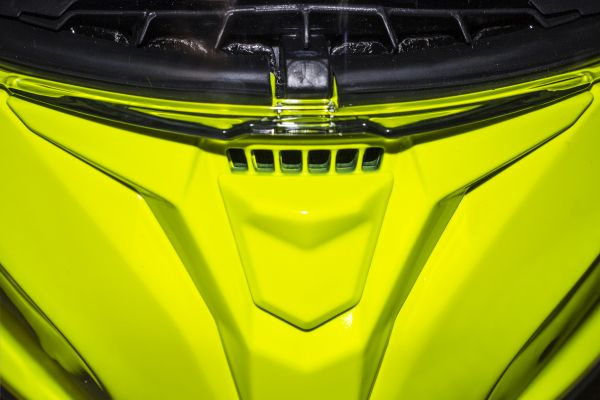 Casca integrala motociclete MT Targo solid A3 galben fluor lucios [4]
