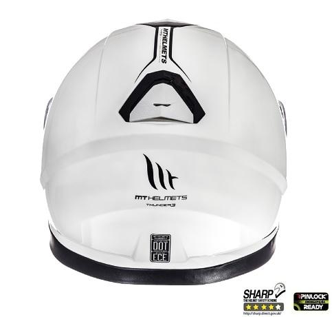Casca integrala motociclete MT Thunder III SV alb lucios (ochelari soare integrati) [3]