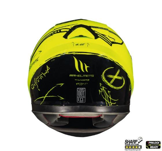 Casca integrala motociclete MT Thunder III SV Board A0 galben fluor lucios (ochelari soare integrati) [3]