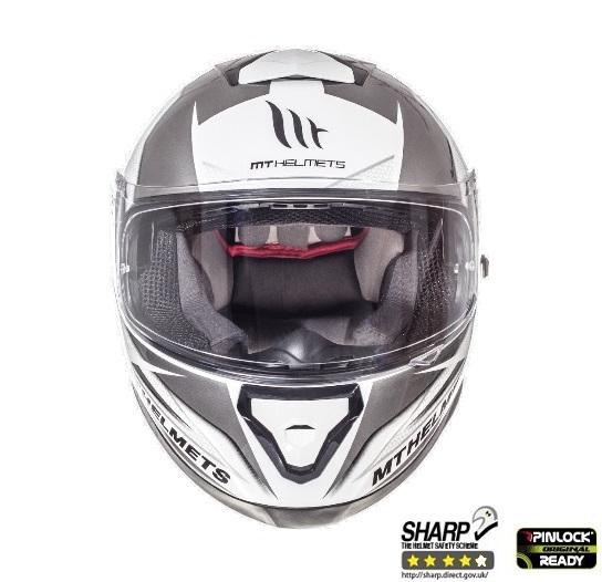 Casca integrala motociclete MT Thunder III SV Effect alb/argintiu antracit lucios (ochelari soare integrati) [2]