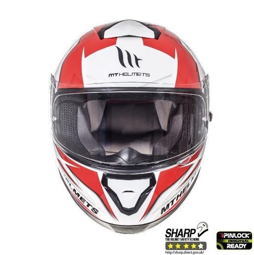 Casca integrala motociclete MT Thunder III SV Effect alb/rosu lucios (ochelari soare integrati) [2]