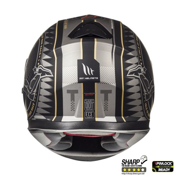 Casca integrala motociclete MT Thunder III SV Isle of Man negru/auriu mat (ochelari soare integrati) [3]
