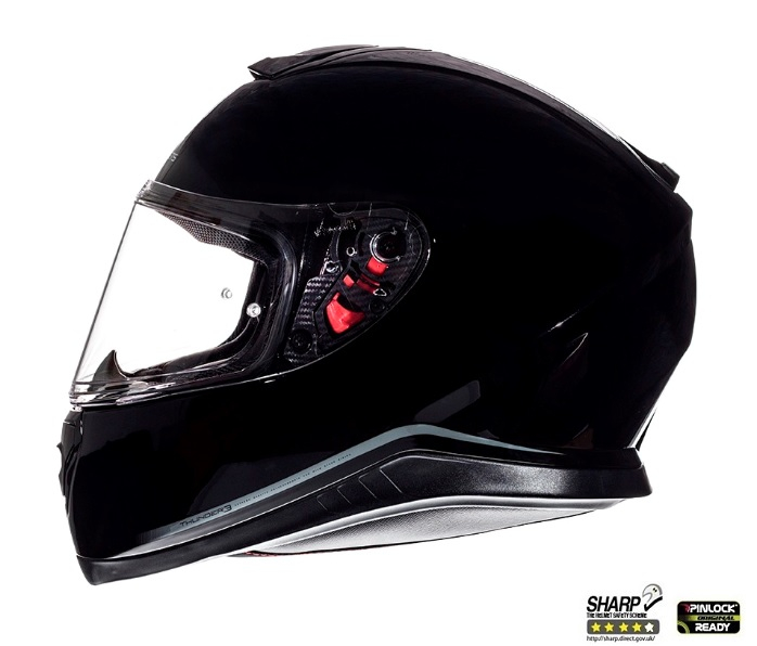 Casca integrala motociclete MT Thunder III SV negru lucios (ochelari soare integrati) [0]