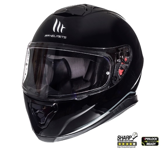 Casca integrala motociclete MT Thunder III SV negru lucios (ochelari soare integrati) [1]