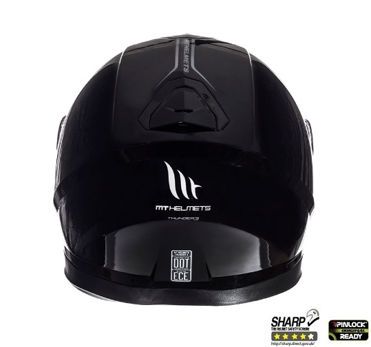 Casca integrala motociclete MT Thunder III SV negru lucios (ochelari soare integrati) [3]