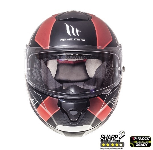 Casca integrala motociclete MT Thunder III SV Trace negru/rosu mat (ochelari soare integrati) [2]