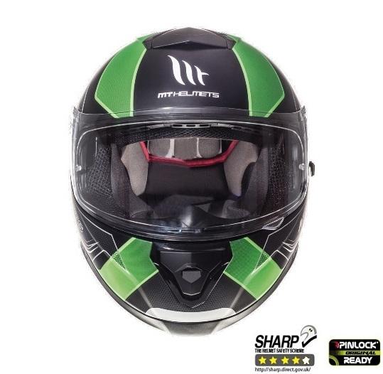 Casca integrala motociclete MT Thunder III SV Trace negru/verde fluor mat (ochelari soare integrati) [2]