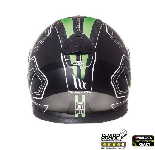 Casca integrala motociclete MT Thunder III SV Trace negru/verde fluor mat (ochelari soare integrati) [3]