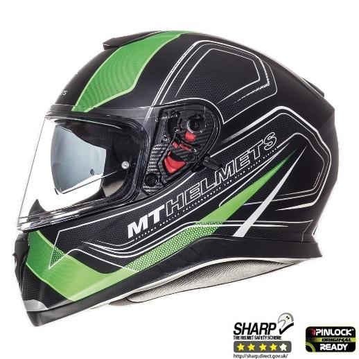 Casca integrala motociclete MT Thunder III SV Trace negru/verde fluor mat (ochelari soare integrati) [0]