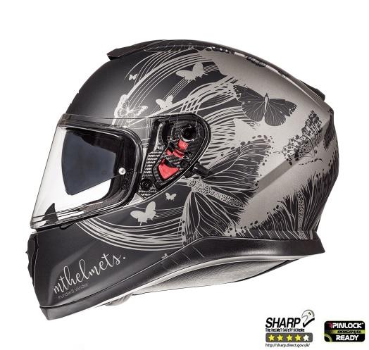 Casca integrala motociclete MT Thunder III SV Vlinder B2 negru/gri mat (ochelari soare integrati) [0]