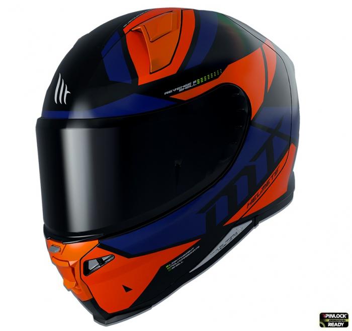 Casca integrala MT Revenge 2 Scalpel A4 portocaliu fluor lucios [0]