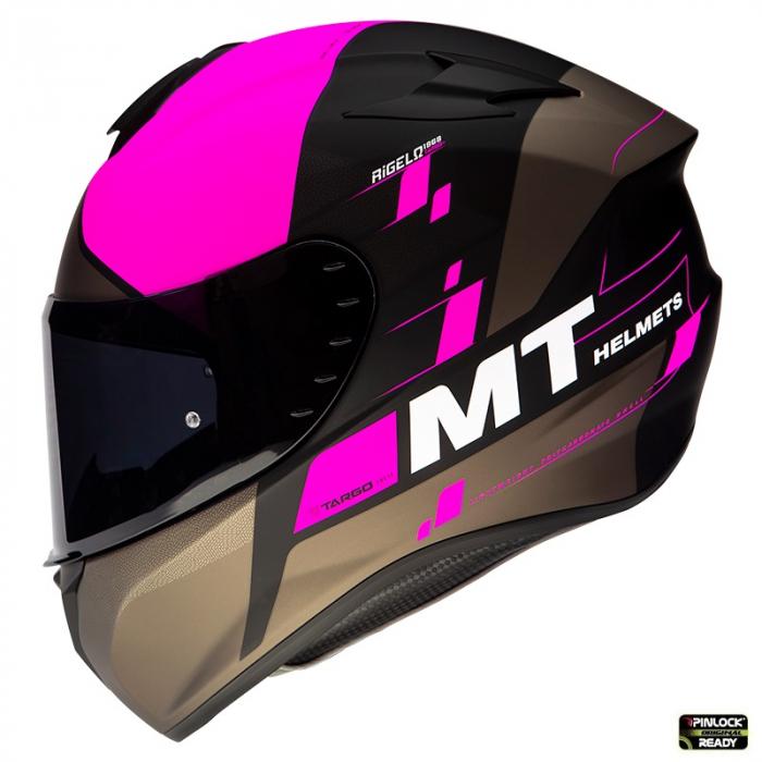 Casca integrala MT Targo Rigel A8 roz fluor mat [0]