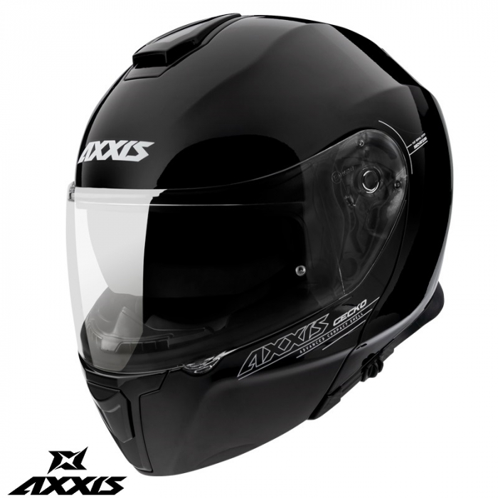 Casca modulabila Axxis model Gecko SV A1 negru lucios (ochelari soare integrati) [1]