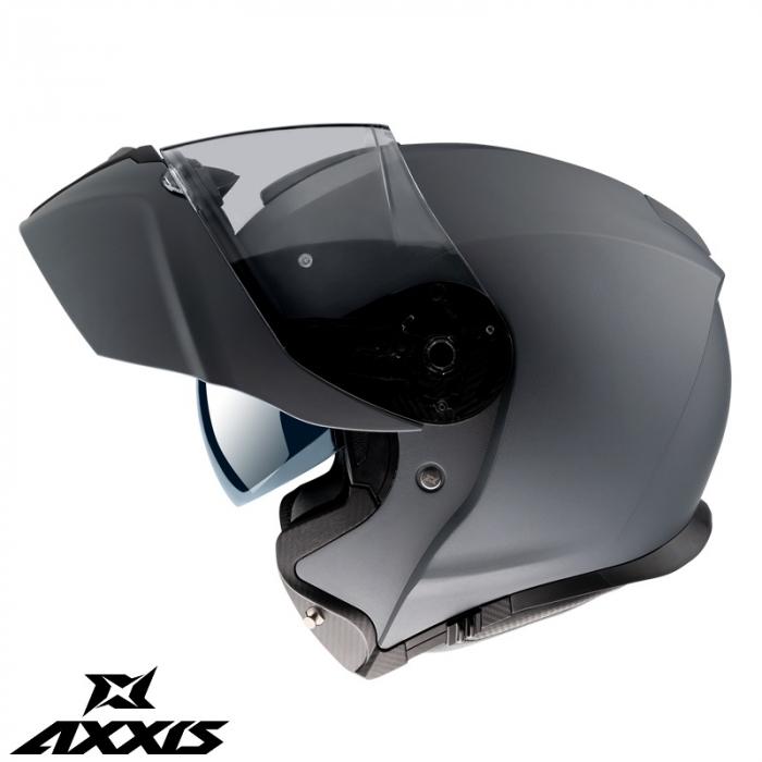 Casca modulabila Axxis model Gecko SV A1 negru mat (ochelari soare integrati) [0]