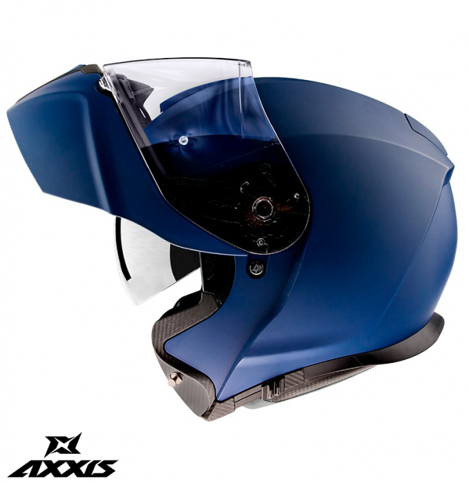 Casca modulabila Axxis model Gecko SV A7 albastru mat (ochelari soare integrati) [0]