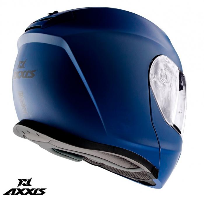 Casca modulabila Axxis model Gecko SV A7 albastru mat (ochelari soare integrati) [2]