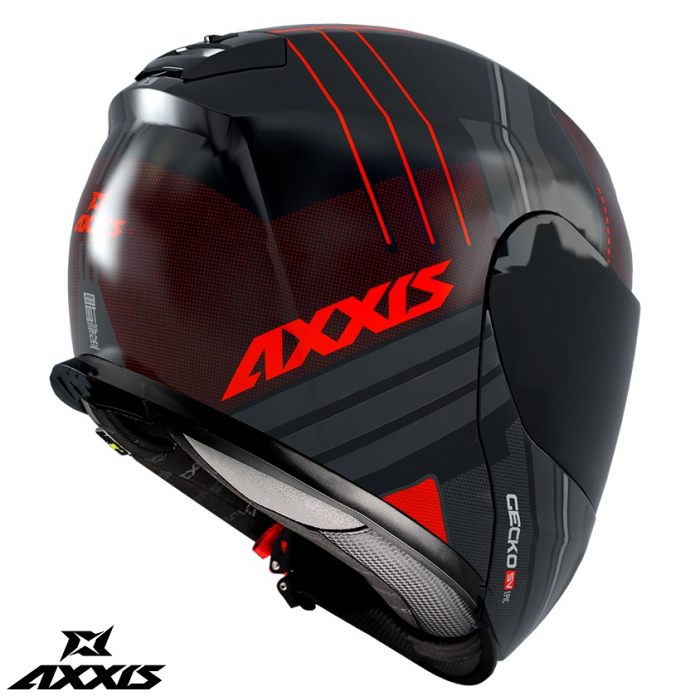 Casca modulabila Axxis model Gecko SV Epic B5 rosu fluor mat (ochelari soare integrati) [1]