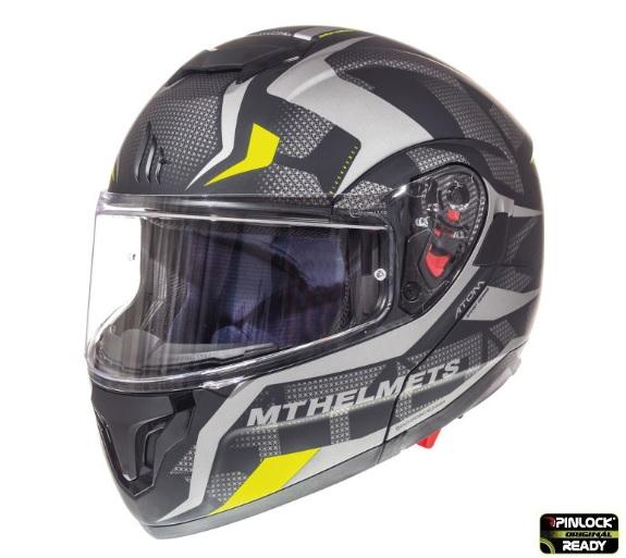 Casca modulabila motociclete MT Atom SV Divergence A12 negru/gri mat Pinlock ready (viziera tip MT-V-16) [4]