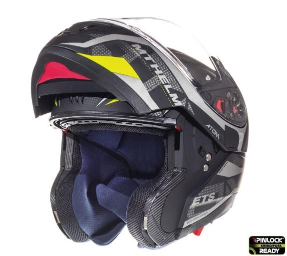 Casca modulabila motociclete MT Atom SV Divergence A12 negru/gri mat Pinlock ready (viziera tip MT-V-16) [1]