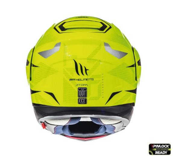 Casca modulabila motociclete MT Atom SV Divergence F1 galben fluor lucios Pinlock ready (viziera tip MT-V-16) [3]