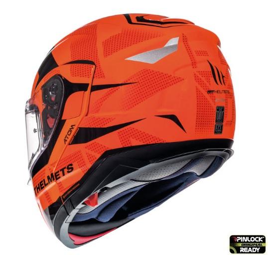 Casca modulabila motociclete MT Atom SV Divergence G1 portocaliu fluor lucios Pinlock ready (viziera tip MT-V-16) [5]