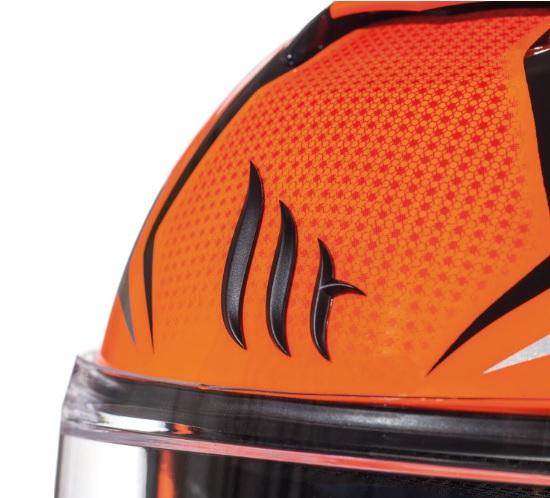 Casca modulabila motociclete MT Atom SV Divergence G1 portocaliu fluor lucios Pinlock ready (viziera tip MT-V-16) [6]