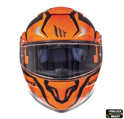 Casca modulabila motociclete MT Atom SV Divergence G1 portocaliu fluor lucios Pinlock ready (viziera tip MT-V-16) [2]