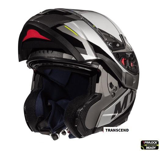 Casca modulabila motociclete MT Atom SV Transcend E2 negru/gri mat Pinlock ready [1]