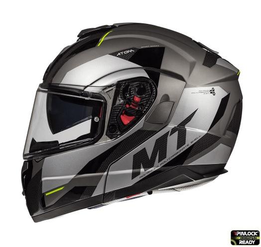 Casca modulabila motociclete MT Atom SV Transcend E2 negru/gri mat Pinlock ready [0]