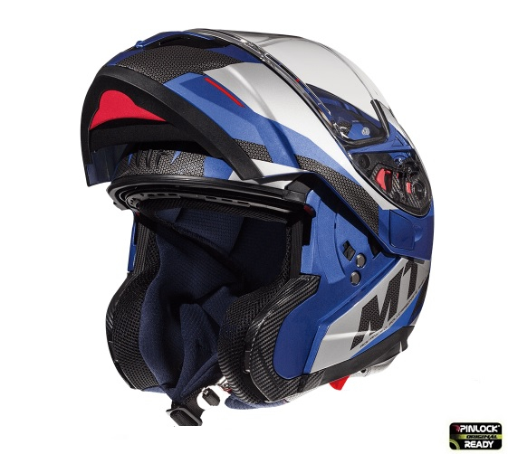 Casca modulabila motociclete MT Atom SV Transcend E7 albastru/gri lucios Pinlock ready [1]
