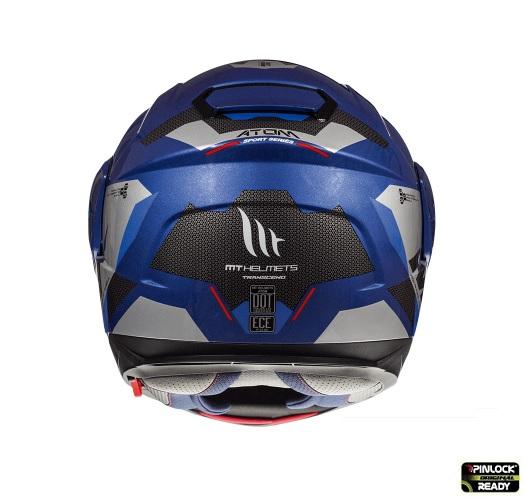 Casca modulabila motociclete MT Atom SV Transcend E7 albastru/gri lucios Pinlock ready [3]