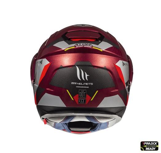 Casca modulabila motociclete MT Atom SV Transcend F5 rosu/gri lucios Pinlock ready [3]
