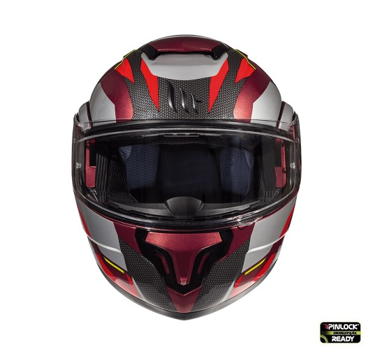 Casca modulabila motociclete MT Atom SV Transcend F5 rosu/gri lucios Pinlock ready [2]