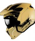 Casca MT Streetfighter SV A9 auriu cromat lucios (ochelari soare integrati) – masca (protectie) barbie si cozoroc detasabile – editie speciala [0]
