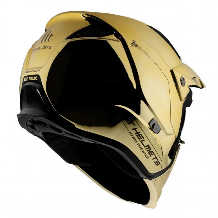 Casca MT Streetfighter SV A9 auriu cromat lucios (ochelari soare integrati) – masca (protectie) barbie si cozoroc detasabile – editie speciala [2]