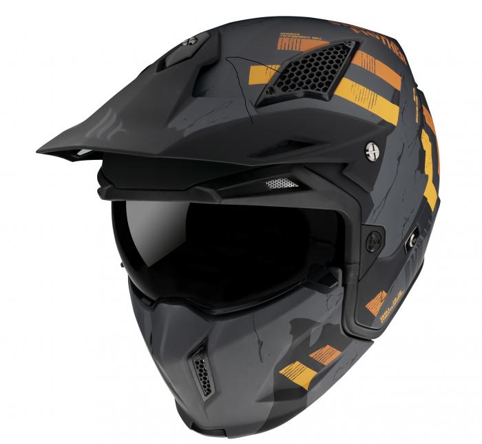 Casca MT Streetfighter SV Skull2020 A12 gri mat (ochelari soare integrati) – masca (protectie) barbie si cozoroc detasabile [1]