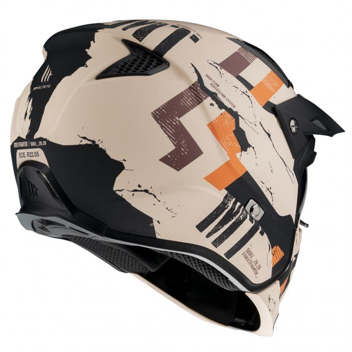 Casca MT Streetfighter SV Skull2020 A14 portocaliu mat (ochelari soare integrati) – masca (protectie) barbie si cozoroc detasabile [2]