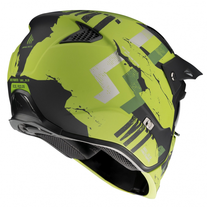 Casca MT Streetfighter SV Skull2020 A16 verde mat (ochelari soare integrati) – masca (protectie) barbie si cozoroc detasabile [2]