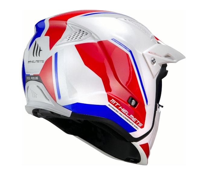 Casca MT Streetfighter SV Twin B7 alb/albastru lucios (ochelari soare integrati) – masca (protectie) barbie si cozoroc detasabile [2]
