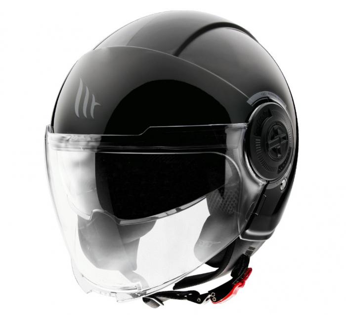 Casca MT Viale SV A1 negru lucios (ochelari soare integrati) [1]